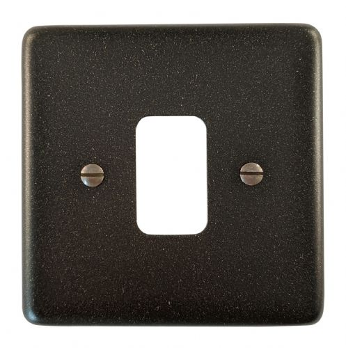 G&H CG91 Standard Plate Graphite 1 Gang MK Compatible Grid Plate